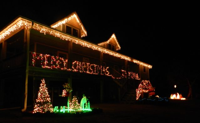 David and Melinda Esham's home in Oyster Creek won for best theme.