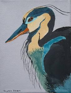 Heron by Daymon Esham, 5th Grader at Ocracoke School
