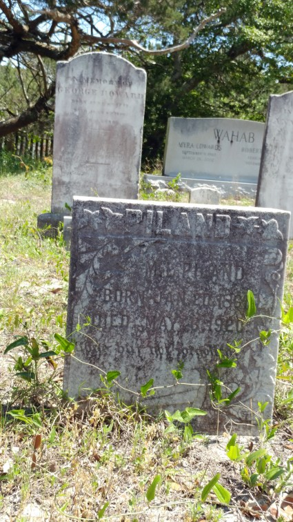 Gravestone of M.L. Piland on British Cemetery Road, Ocracoke, N.C.