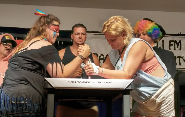 Women's arm wrestling 2017 on Ocracoke, NC