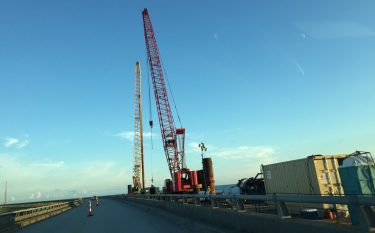 New Bonner Bridge construction 2017