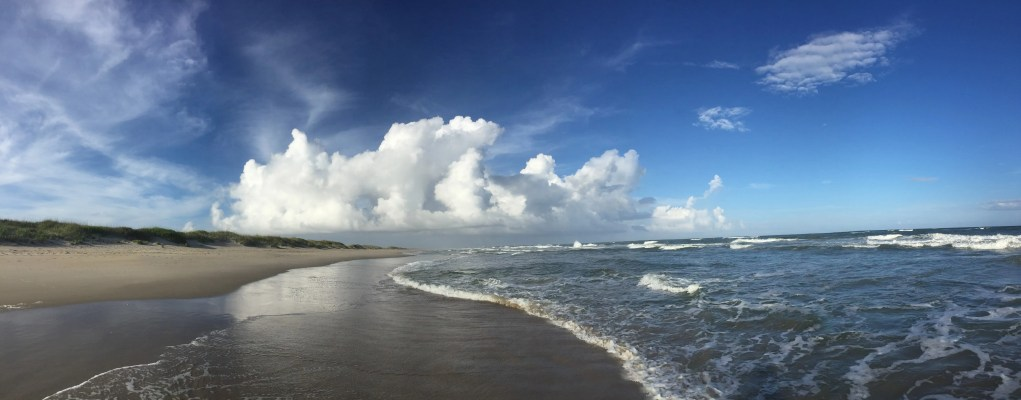 Cumulus congestus seen from the pony pen beach, Ocracoke. Photo: C. Leinbach