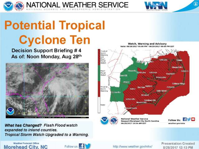 Tropical storm No. 10 Ocracoke NC