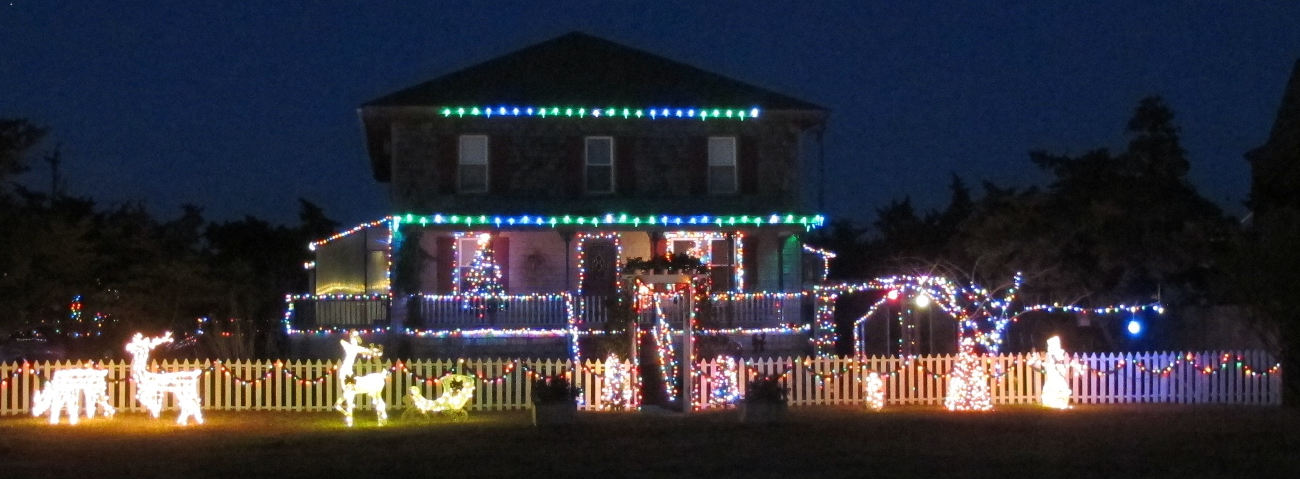 this home will be among those under consideration for best display tomorrow night for the annual island celebration holiday lights contest - Best Christmas Lights In Nc