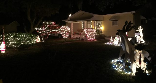 The Christmas display at Trudy Austins home on Lighthouse Road, Ocracoke, NC. Photo: C. Leinbach