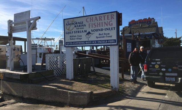 Islanders and visitors can purchase gas at the Anchorage Marina while gasoline is still unavailable for purchase at Ocracoke Station, Ocracoke, NC.
