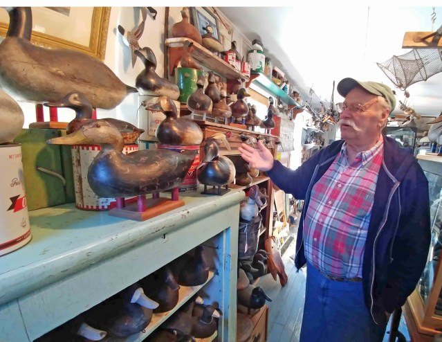 Dave O'Neal in his Down Point Decoys Shop Ocracoke, N.C.
