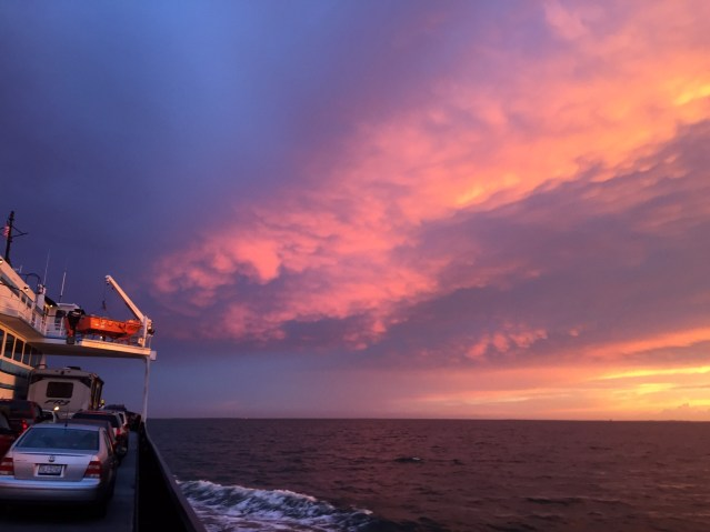 Spectacular skies are frequent bonuses on ferry rides to Ocracoke, N.C. Photo: C. Leinbach