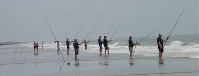 Anglers at the annual Ocracoke Invitational Surf Fishing Tournament Thursday and Friday (May 3 and 4), Ocracoke, N.C., will vie for the largest and most fish. Photo: C. Leinbach