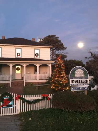 The Ocracoke Preservation Society is decked out for Christmas. Photo by Traci DeVette Griggs