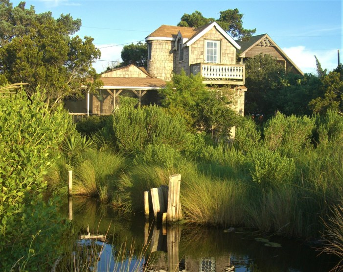 Pat Garber's 'Marsh Haven' home on Ocracoke Island, NC, in better times before it was flooded by Hurricane Dorian Sept. 6, 2019.