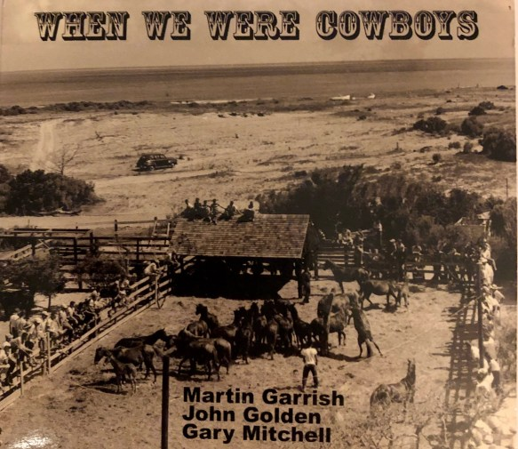The cover of the new CD 'When We Were Cowboys' shows a view from the Berkley Manor on Ocracoke.