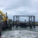 Ferry arrives on Ocracoke