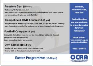 Image: OCRA Easter Teenage Programme Easter 2018
