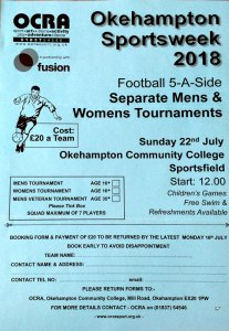 Image: 5-a-side 2018 entry form