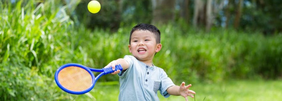 Image: child racket skills