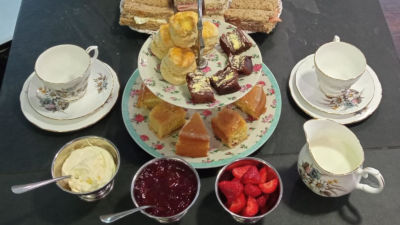 Tea at the Pavilion in the Park