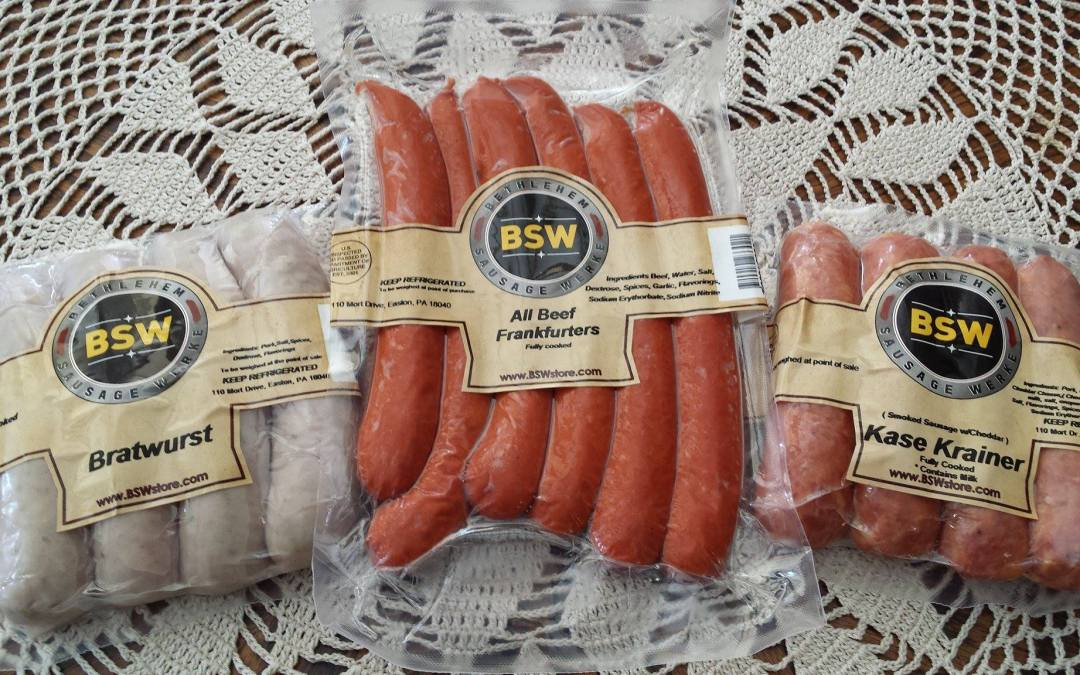 German Sausages NOW AVAILABLE!!
