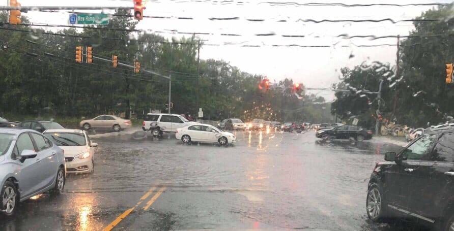Lakewood: New Hampshire @ Oak- Flooded.