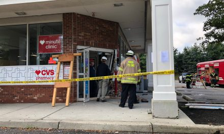 Brick: CVS (Burnt Tavern)- Reported car into building.