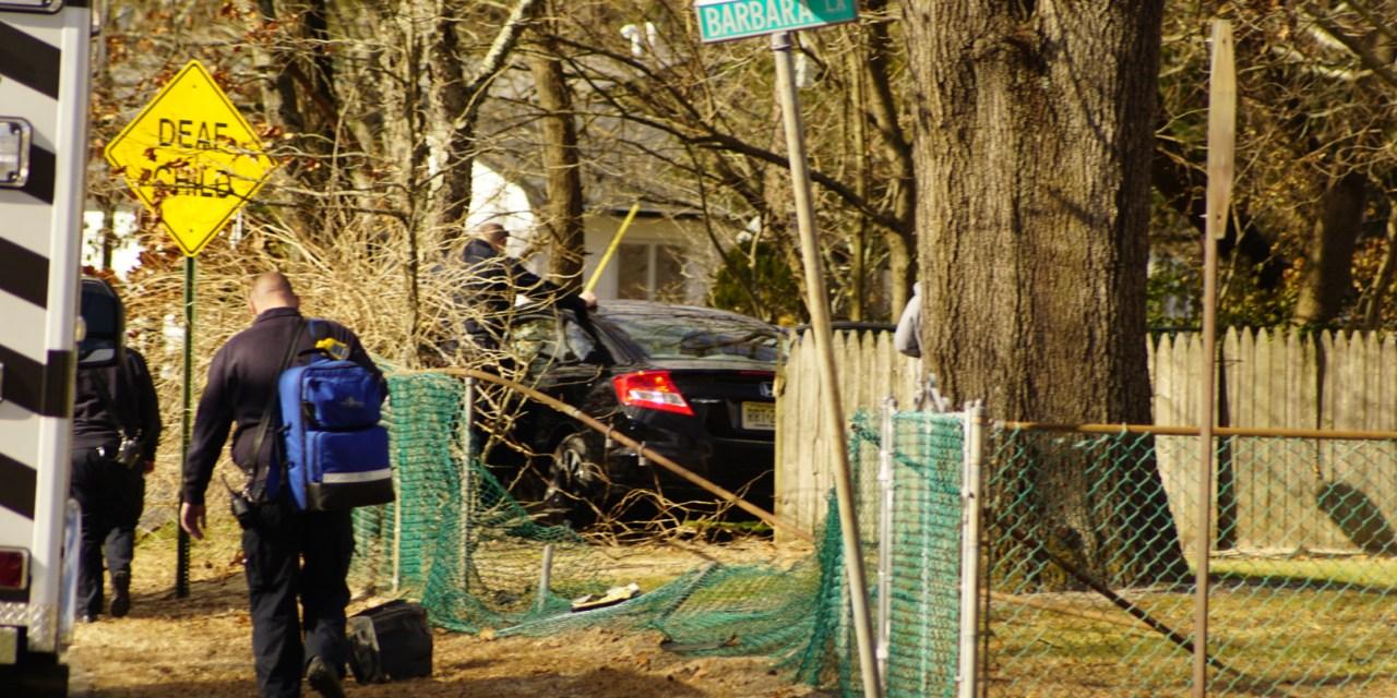BRICK: Car off road into yard – Barbara Ln and Stephan Rd