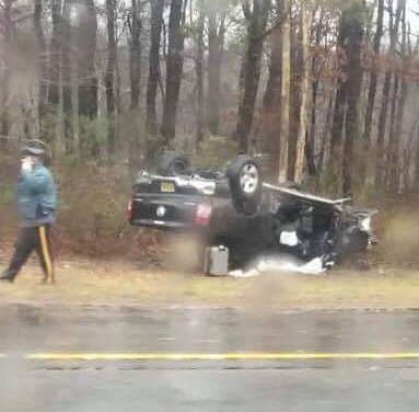 LACEY – FORKED RIVER: GSP MVA – Overturn With Entrapment (Near Lacey Rest Area)