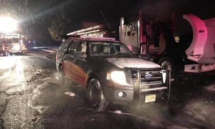 BARNEGAT: Lower Shore Road- Tractor Trailer Fire.