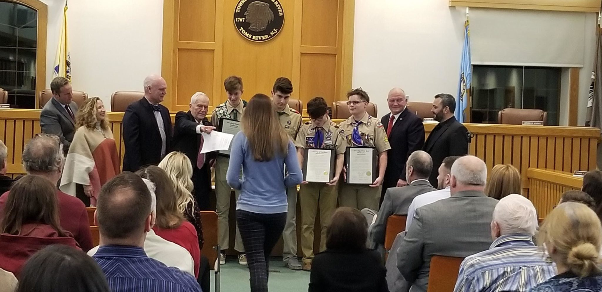 TOMS RIVER: Code Blue Plan, Eagle Scouts and New Police