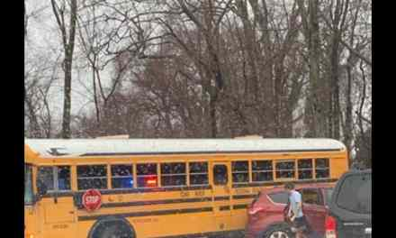 TR: Slick Roads Lead To Bus Sliding On Road