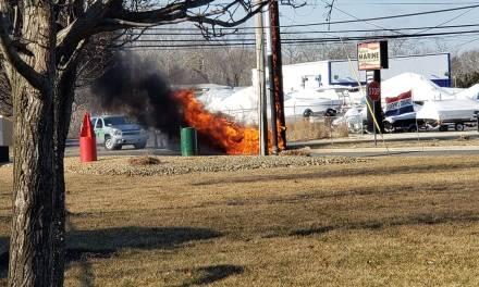 MVA: Car vs Pole + Fire
