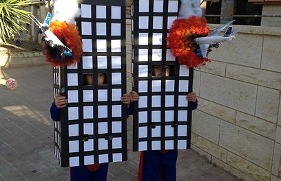 Israeli site shows photo of kids dressed as burning Twin Towers for Purim, upsets everyone