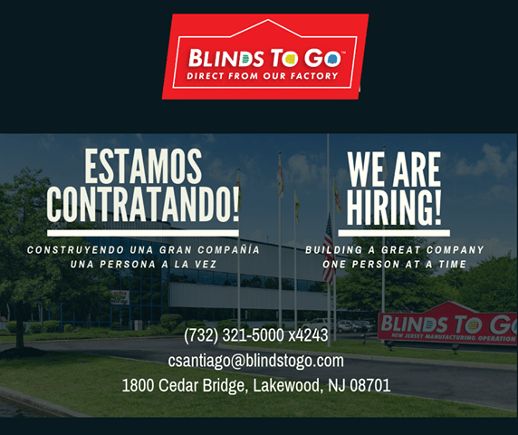 LAKEWOOD: Blinds To Go- Now Hiring!