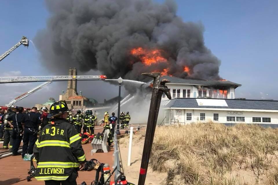 OCEAN GROVE: Fire Heavily Damages Dunes Boardwalk Cafe