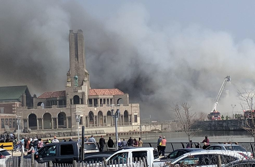 FIRE DAMAGES OCEAN GROVE FOOD COURT THE DUNES BOARDWALK CAFE