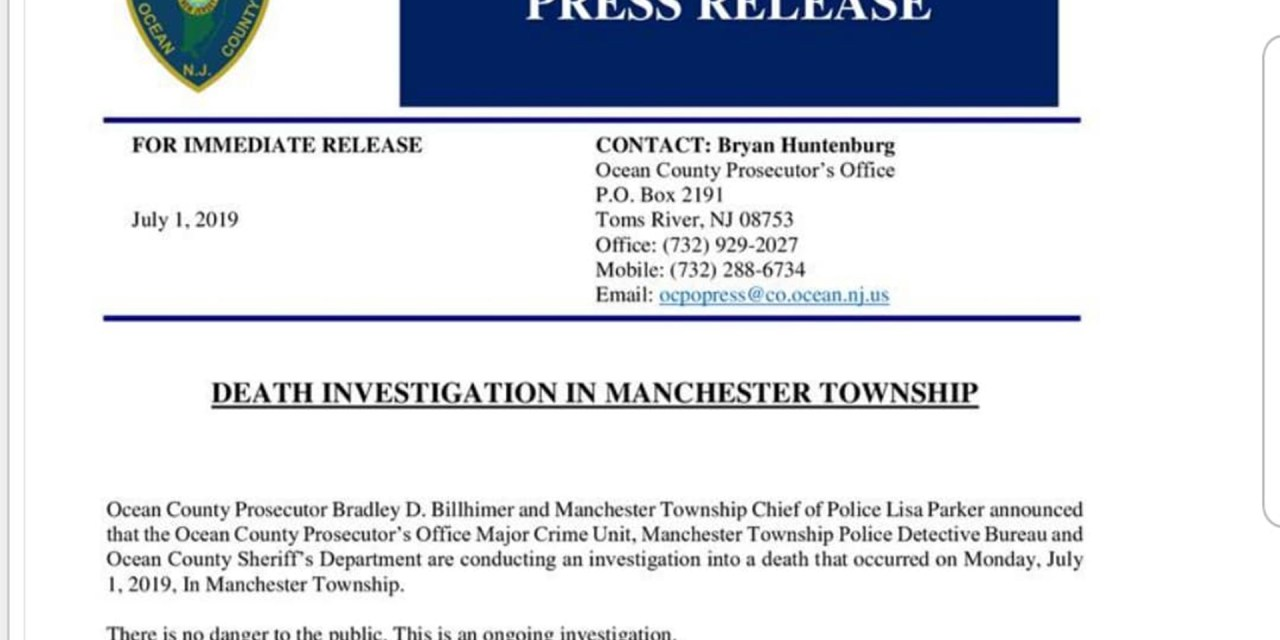 Manchester: OCPO Press Release regarding death investigation
