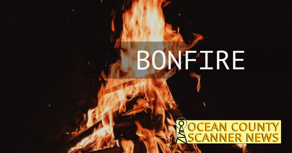 Toms river : large bonfire