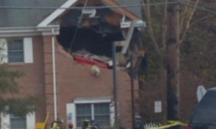 TOMS RIVER: Second-Story Vehicle vs. Building- Updated With Pictures