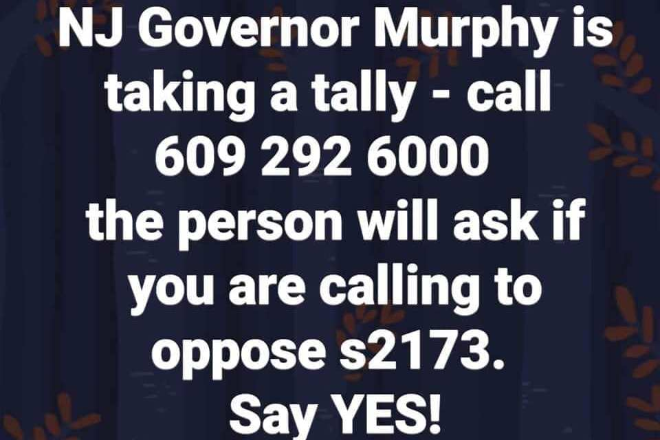 Save Medical Freedom- Help Oppose NJ S2173