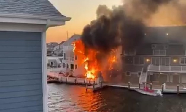 TOMS RIVER: Early Morning Barrier Island Fire