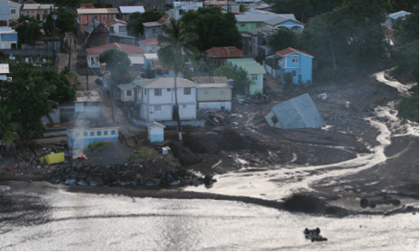 Figure 3a - Destruction from Tropical Storm Erika (Dominica) [4]