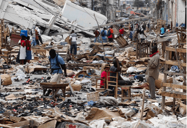 Figure 4a - Destruction from Earthquake in Haiti [6]