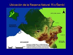 Figure 1. Location of Natural Reserve Ñambi River