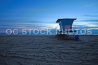 Lifeguard Tower 18 at Dusk in Huntington Beach