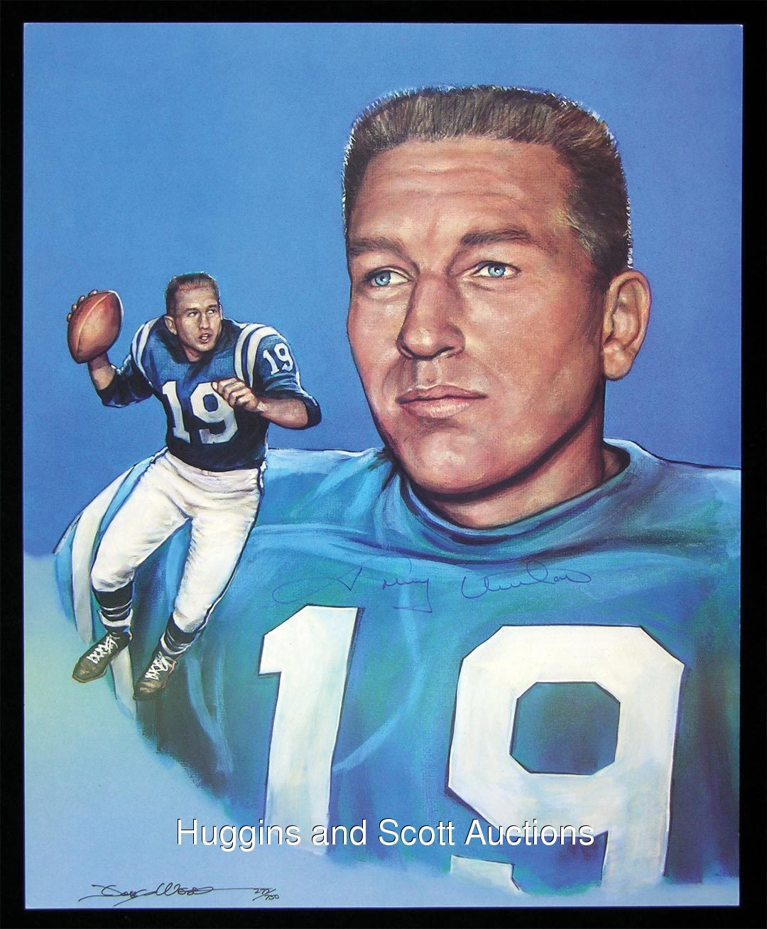 Teammates Johnny Unitas Baltimore Colts