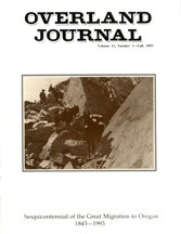 Overland Journal Volume 11 Number 3 Fall 1993
