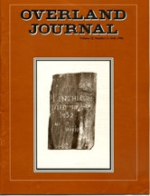 Overland Journal Volume 12 Number 3 Fall 1994
