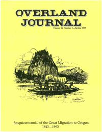 Overland Journal Volume 11 Number 1 Spring 1993