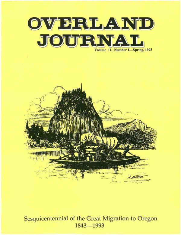 Overland Journal Volume 11 Number 1 Spring 1993