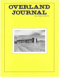 Overland Journal Volume 12 Number 4 Winter 1994