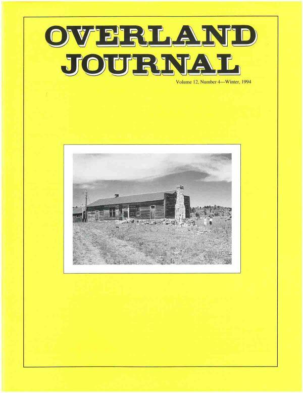 Overland Journal Volume 12 Number 4 Winter 1994
